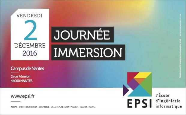 Journée d'immersion au campus de Nantes