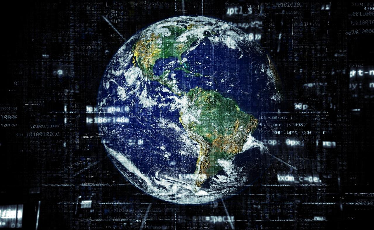Représentation du stockage des données dans le monde